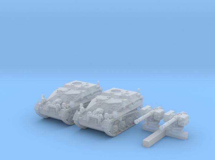 1/285 (6mm) German Wiesel 1 TOW AFV x2 3d printed 1/285 (6mm) German Wiesel 1 TOW AFV x2