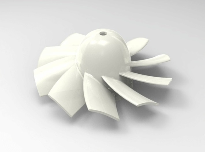 28mm 10 Blade Counter Rotating rotor for 1mm shaft 3d printed Add a caption...