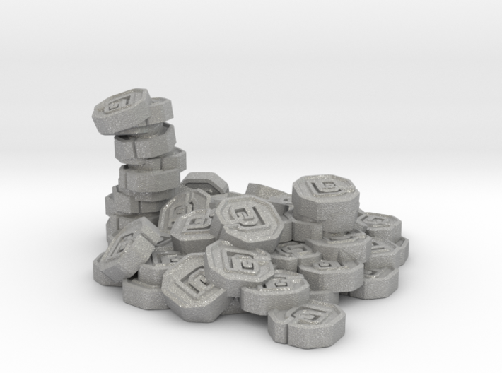"Pile of Shanix (1"" diameter) 3d printed"