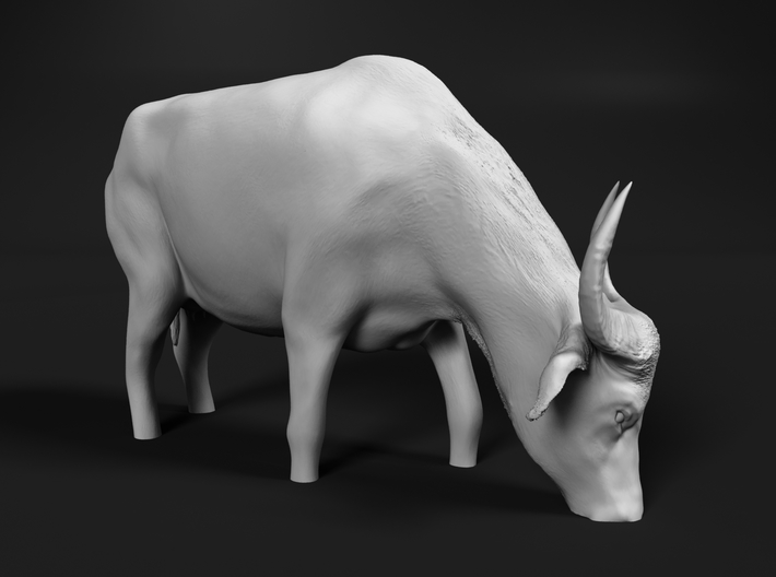 Domestic Asian Water Buffalo 1:24 Grazing in Water 3d printed