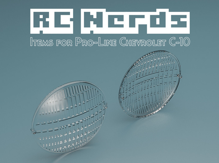 RCN033 Front Light Lens for Chevy 66 Pro-Line 3d printed