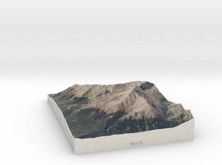 Mt. Elbert, Colorado, USA, 1:50000 3d printed