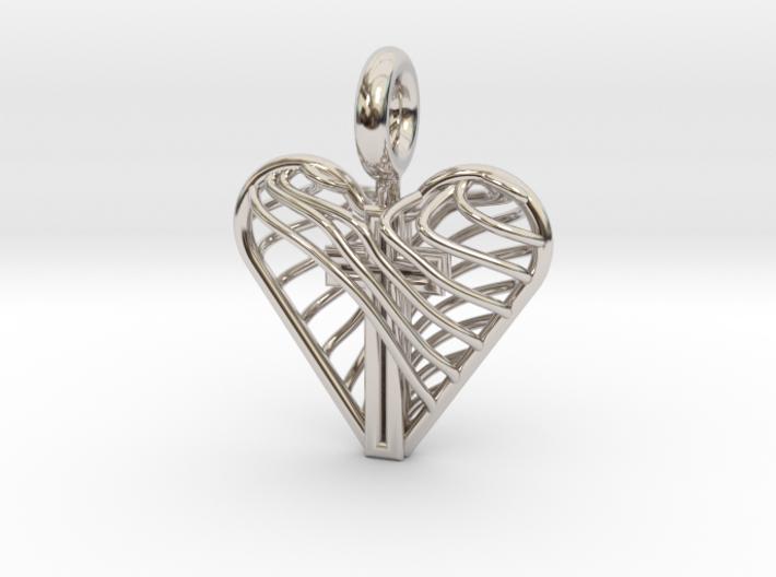 Cross in Heart V1 3d printed