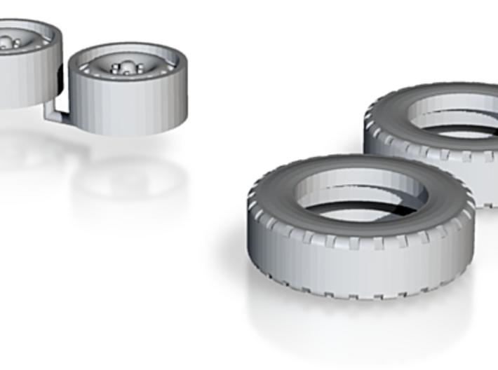 1:50 Anhänger Reifen Ø 13,35mm B 3,77mm 3d printed