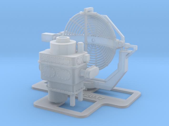 277P Radar 1/128 3d printed