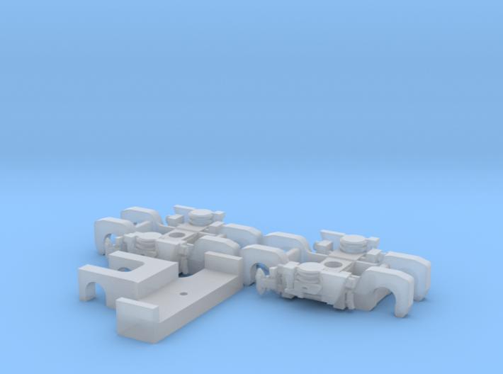 BiLevel Truck Pair 3d printed
