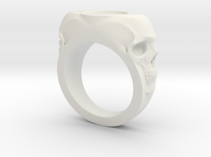 Skull Signet Ring blank size 12 3d printed