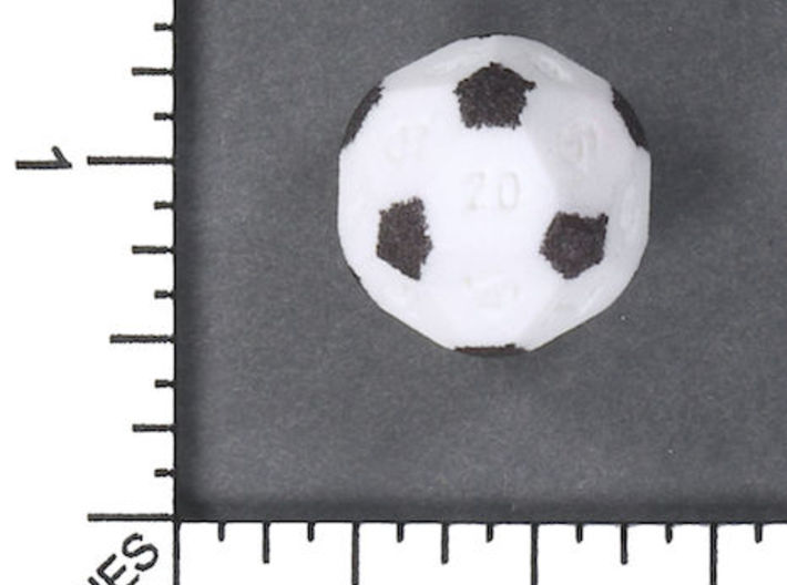 Soccer D20 3d printed Image courtesy of Kevin Cook, www.dicecollector.com