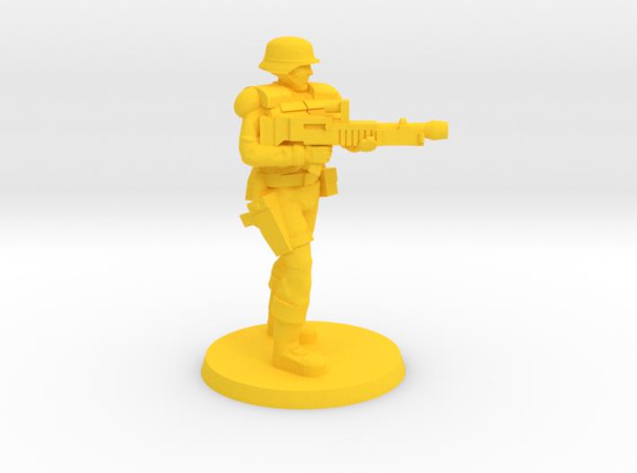 PDF Trooper with Light Machine Gun 3d printed