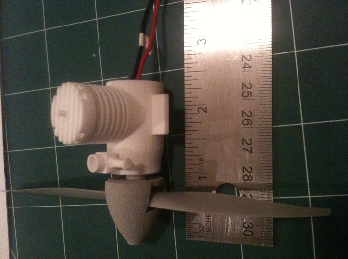 EFlite UMX 180 Dummy Engine 3d printed Show relative size with spinner attached