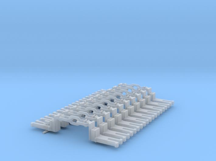 NEM OO Type 43 Couplings - Big-Step Up 3 Link x10 3d printed