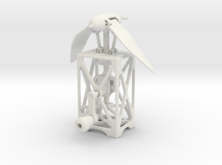 Mechanical Bird Automaton 3d printed