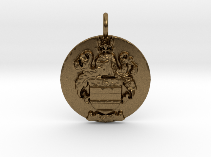 Mather Family Crest Pendant 3d printed