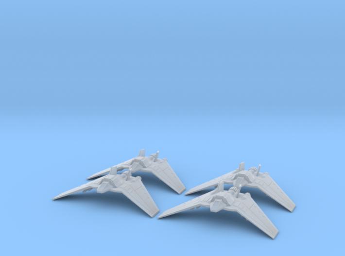 F-302 Interceptors Large set: 1/700 scale 3d printed