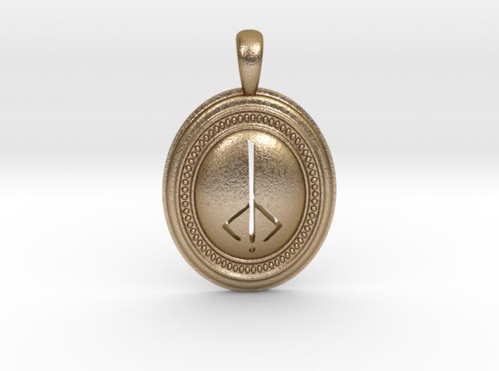 Bloodborne Hunter's Mark Pendant/Keychain 3d printed