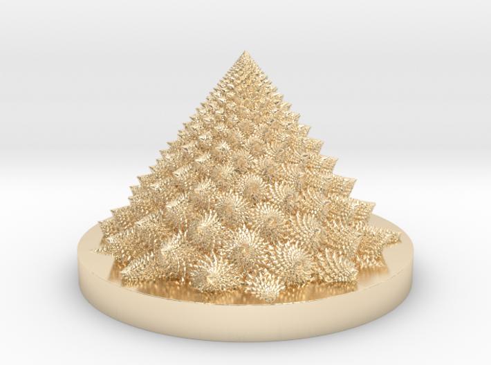 Romanesco Bloom (backwards, more resolution) 3d printed