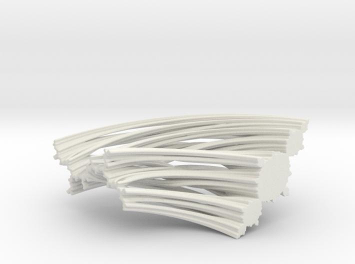 Quarter Unit Circle Julia Sets (135°, filled) 3d printed
