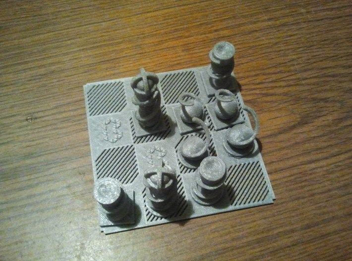 MiniChess Pawn 3d printed MiniChess set