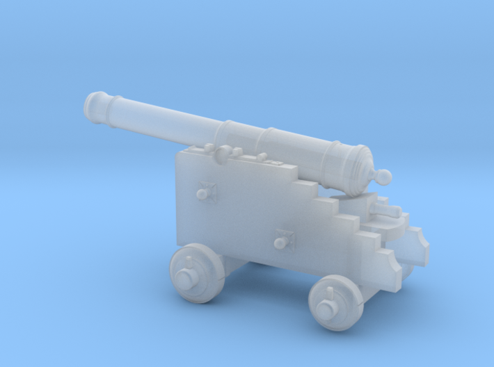 18th Century 6# Cannon-Naval Carriage 1/56 3d printed