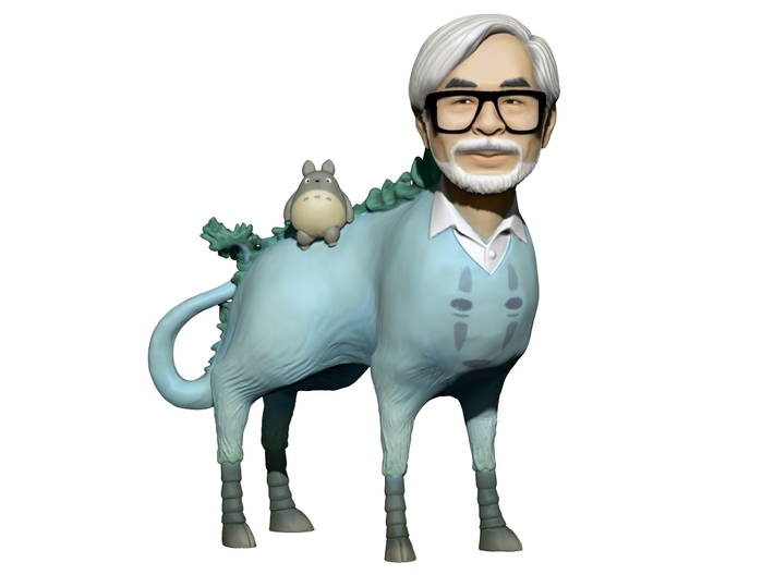 The Hiyatoro Miyazaki Spirit 3d printed Screenshot of the colored 3D-model.