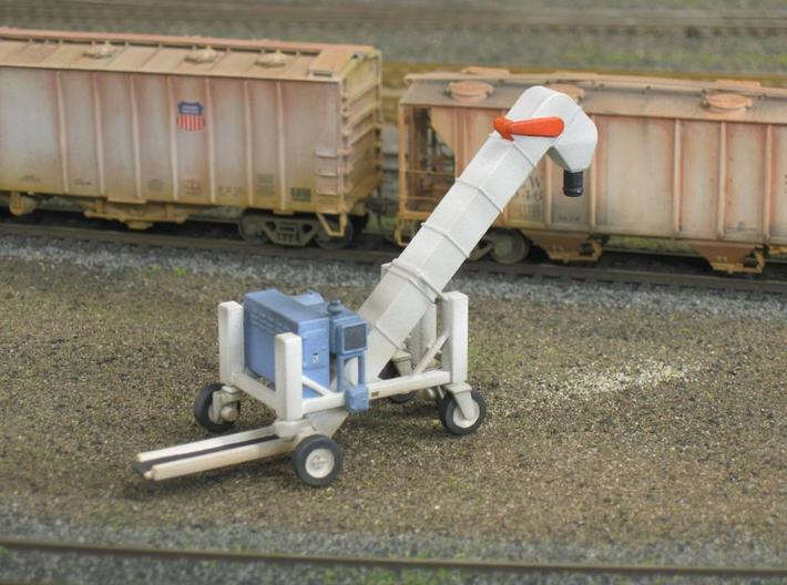 S scale1/64 Conveyor Unloader (Transloader) 3d printed This is my HO version on a friends layout.
