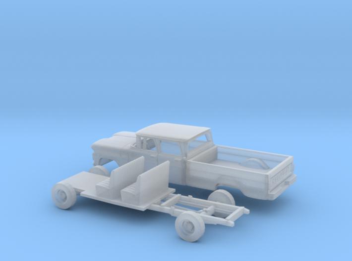 1/160 1960/61 Chevrolet C20 Fleetside Crewcab Kit 3d printed