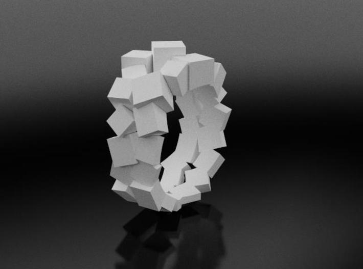 Prism Double Ring (from $15) 3d printed Patricia Ring