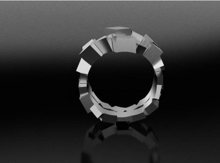 Prism Double Ring (from $15) 3d printed Patricia Jewell