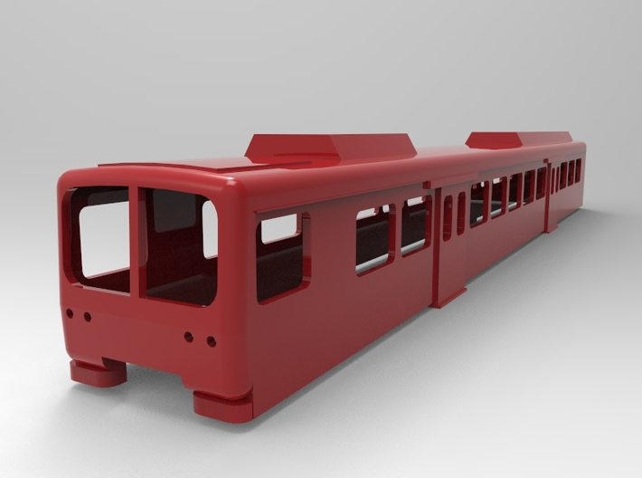 BR280 DR front car Scale 1:160 3d printed