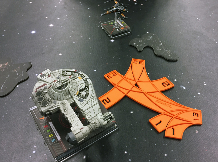 X-wing Multi template (with custom text) 3d printed