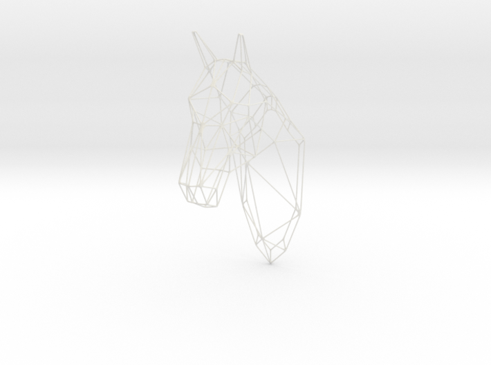 Horse Head Wireframe 25in 3d printed
