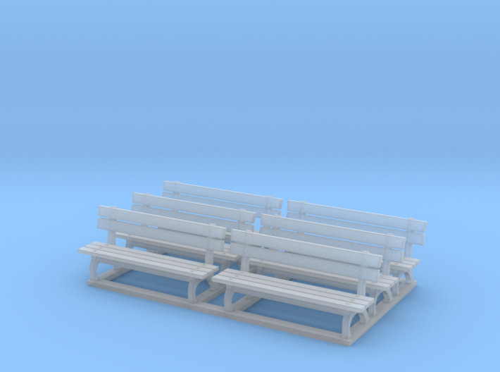 Park bench 01. 1:64 Scale 3d printed