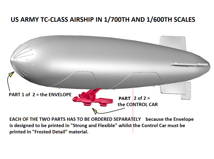 US Army TC Class 1/700 & 600 scale PART 1 of two 3d printed Parts Diagram