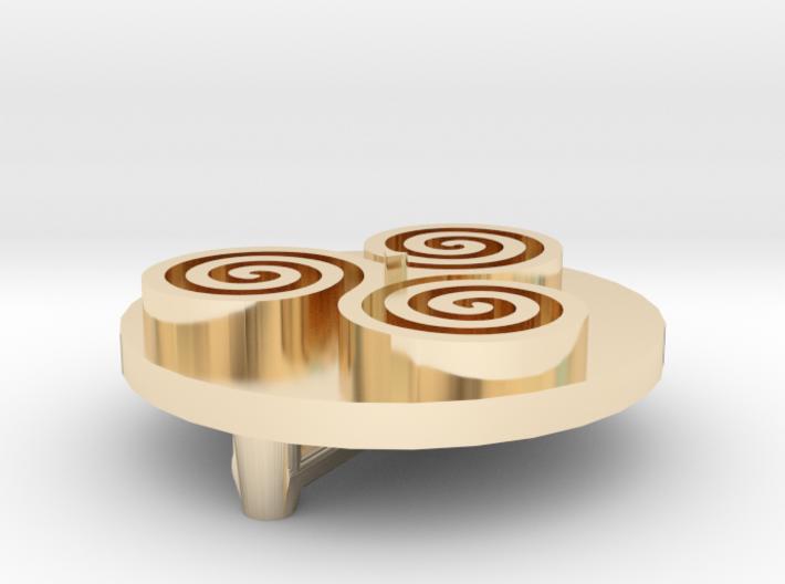 Triskele Shield 3d printed