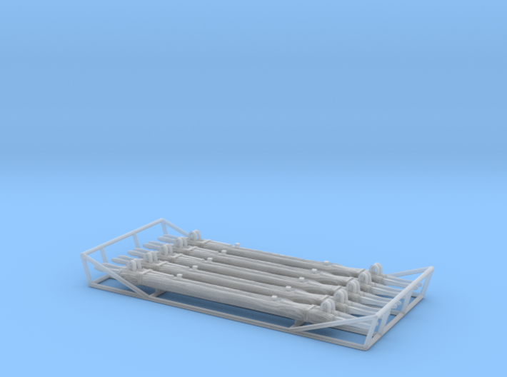 British WW2 Stretcher - rolled up (1/35) 3d printed