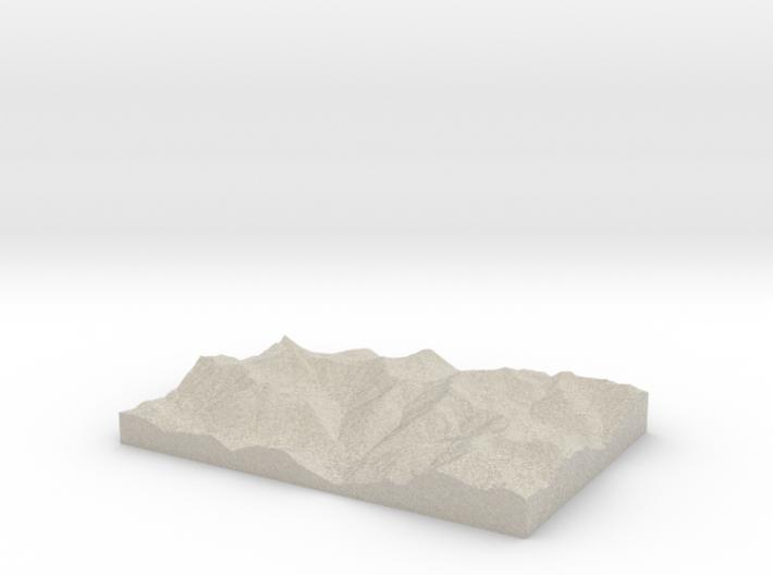 Model of Park Creek 3d printed