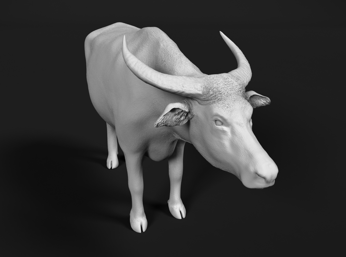 Domestic Asian Water Buffalo 1:72 Standing Male 3d printed