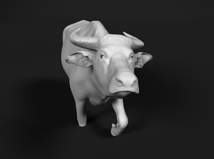 Domestic Asian Water Buffalo 1:72 Walks in Water 3d printed