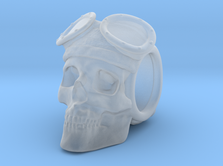 """The Lost Aviator"" Skull Bead 3d printed"