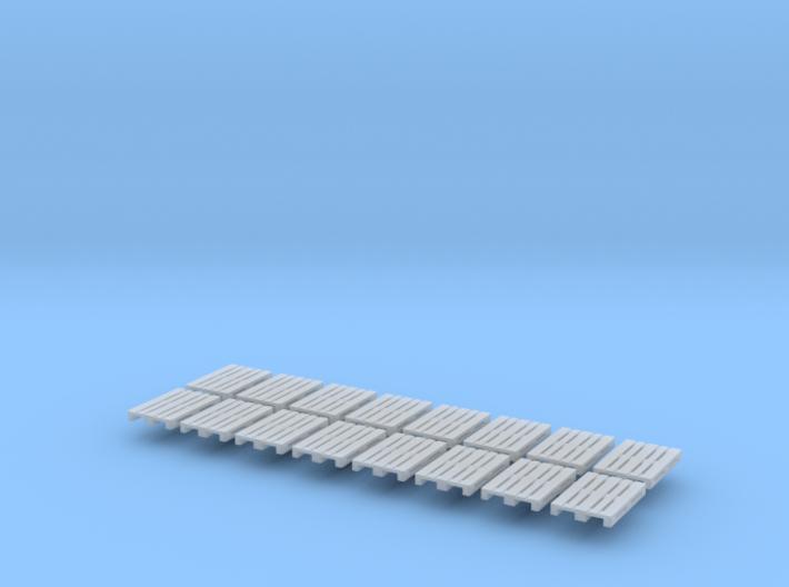 16x EUR-pallet (TT 1:120) 3d printed