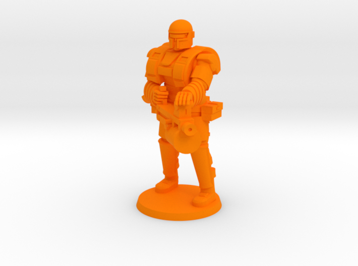 Super Soldier with Heavy weapon 3d printed