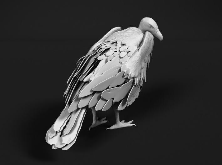 White-Backed Vulture 1:32 Standing 2 3d printed