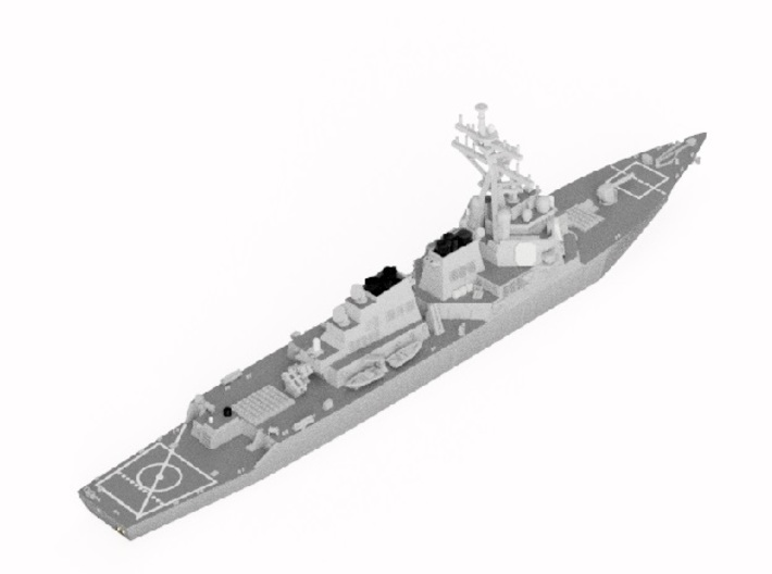 1/2000 USS Curtis Wilbur 3d printed Computer software render.The actual model is not full color.