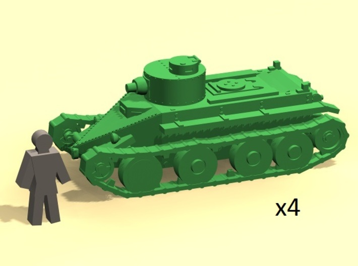 6mm 1/285 Christie T3 tank 3d printed