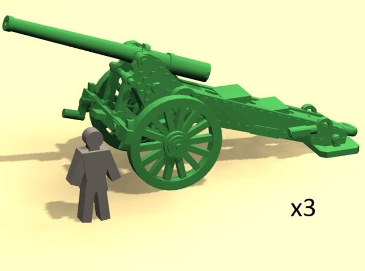 6mm scale De Bange cannon 155mm 1877 (3) 3d printed