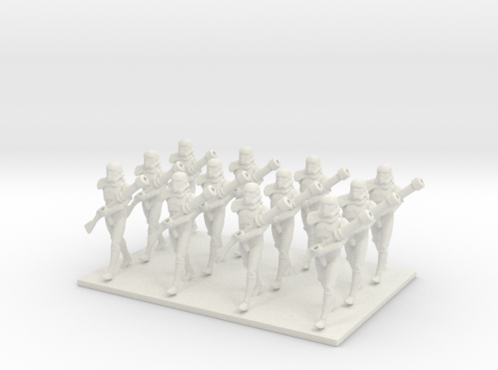 1/48 12 X Trooper Marching 3d printed