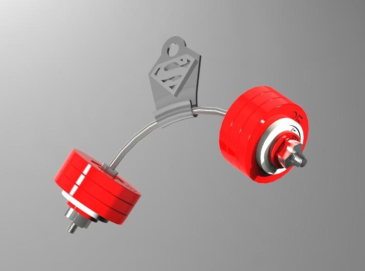 Barbell hanger 3d printed