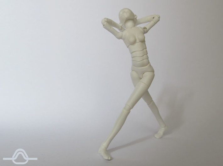 1:12 FUD ALTER EGO Female Bjd Doll Kit 3d printed