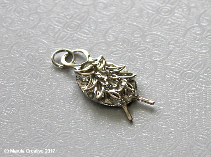 SMK Persian Charm (Gijsbrechts) - with ring 3d printed Interlocking Polished Silver