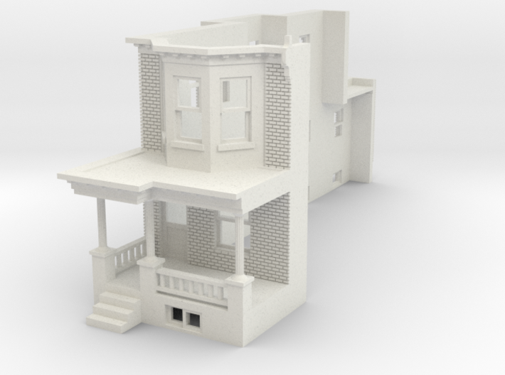 WEST PHILLY ROW HOME END 87MIR 3d printed